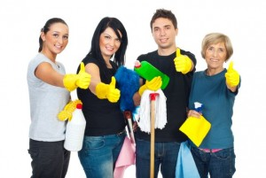 cleaning team